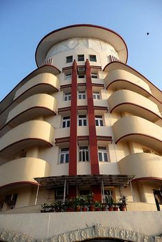 Art Deco ~ The Streamline Moderne Soona Mahal, located on Marine Drive, Mumbai, was designed by Gajanan B. Mhatre                                                                                                                                                                                 More