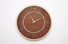 Nowoczesny drewniany ażurowy zegar ścienny RC w NIUS SHOP na DaWanda.com
