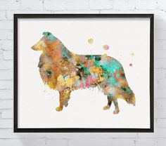 Watercolor Collie Art Collie Print Collie by MiaoMiaoDesign