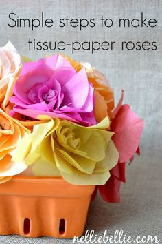 Making tissue paper flowers is a simple process, and all you need are a couple supplies everyone already has in their homes.