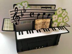 #svgcuts Piano Box Card