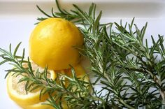 Boil lemon, rosemary, and vanilla to freshen the air in your home for spring - based on Williams-Sonoma.