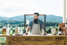 Our Lodge Bar and Industrial Shelving look wonderfully rustic at this styled shoot at Pippin Hill Farms with Belle Lumiere Magazine, Emily Blumberg Photography and Lauren Emerson Events!