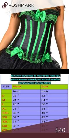 Sexy Lace Up Zipper Boned Overbust Corset Bustier Describe Gender: Women Style:  zipper Place of Origin: China (Mainland) Material: polyester/spandex Type: Waist Cincher Body Shapewear Size: XL Washing: Hand wash only, lay flat to dry, no ironing. Color:Green Tops