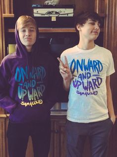 Sam And Colby #Onward&Upward their merch is awesome!!