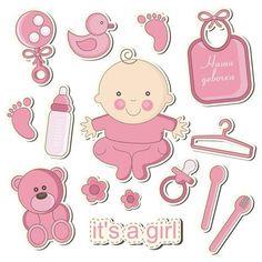 24X cupcake gâteau toppers décoration fille bébé pieds baby shower nouveau-né cadeau