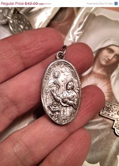 ON SALE TODAY Old Vintage Art Deco Silver Saint St by Glamaroni