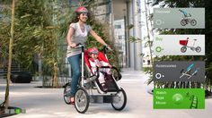 Bike and stroller convertible- Awesome!