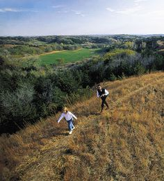 Iowa: Loess Hills- this place made it to the Nature Valley granola box. It is also near where the wind farms are.