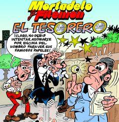Portada de El tesorero, el álbum de Mortadelo y Filemón que se publica el 8 de abril