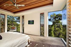lovely bedroom views..Treetops Residence by Artas Architects & Planners