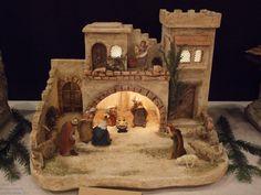 Christmas Cave, Christmas Crib Ideas, Christmas Pictures, All Things Christmas, Christmas Crafts, Christmas Decorations, Christmas Tree Village Display, Christmas Nativity Scene, Christmas Villages