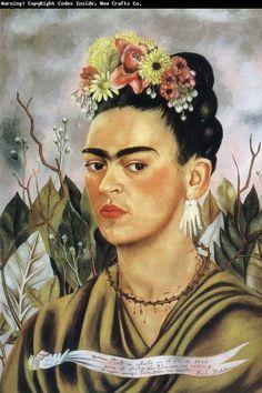 Frida Kahlo - Self Portrait (oil on board, 1940)