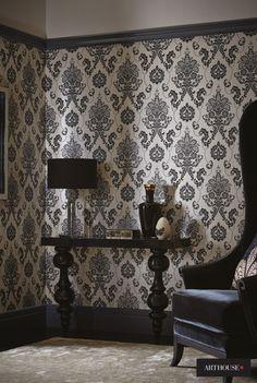 『Import Wallpaper 輸入壁紙 TECIDO DAMASK ARTHOUSE 952701』 http://item.rakuten.co.jp/interior-cozy/952700_952702/ #wallpaper #interior #diy