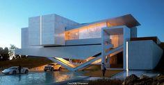 """Mi piace"": 3,532, commenti: 9 - Amazing Architecture (@amazing.architecture) su Instagram: ""Casa DOK   Iridium Render  Diseño/ Rafael Arzola  Tools used: Autodesk 3Ds amx, Vray, Forest pack,…"""