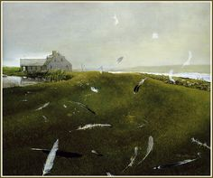 Andrew Wyeth 'Airborne' 1996 Tempera on Panel by Plum leaves, via Flickr