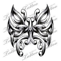 Marketplace Tattoo Tribal Celtic Butterfly #4402 | CreateMyTattoo.com