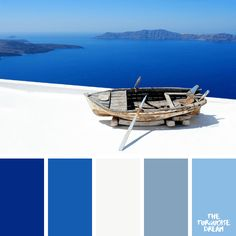 When I think about Greece, I imagine endless blue sea and sunny sky. These 10 color palettes are inspired by the eternal beauty of Greece. Create Color Palette, Paint Color Schemes, Blue Colour Palette, Paint Colors For Home, House Colors, Blue Shades Colors, Color Harmony, World Of Color, Color Theory