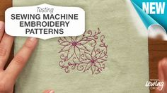 Learn a quick and easy trick for testing a #sewing machine embroidery pattern…