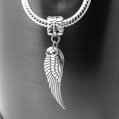 Angel Wings Dangle Charm Simple Pleasures, Angel Wings, Dangles, Charmed, Pendant Necklace, Silver, Collection, Jewelry, Jewlery