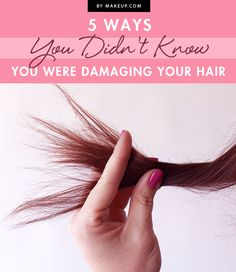 If you're tired of split ends or dried out hair, there may be some things you need to fix in your daily routine. These 5 ways you may be damaging your hair may surprise you. We've got the remedy for how to fix your damaged locks!