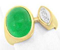 Foto 2, Brillant-Ring Riesen-Spitzen-Smaragd 5,39ct Luxus! Neu!, S8265