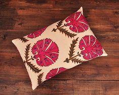 ikat fabric throw pillow ikat cushion suzani decor by DecorUZ Suzani Fabric, Velvet Upholstery Fabric, Ikat Pillows, Velvet Pillows, Designer Throw Pillows, Silk Fabric, Cushions, Handmade Pillows, Decorative Pillows