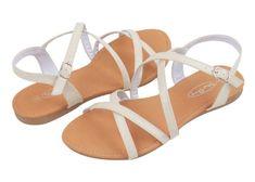 Amazon.com: Womens Roman Gladiator Sandals Flats Strappy Shoes 4 Colors: Shoes