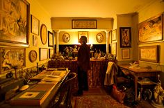 Jean-Marc Lévy-Leblond, a French art writer, contemplating the re-creation of Gertrude Steins famed Paris salon in an apartment in SoHo.