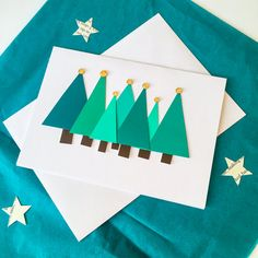 Modern Christmas tree landscape christmas card by MadeByLlama