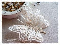 Farfalle all'uncinetto per decorazioni Shabby Chic - Il blog italiano sullo Shabby Chic e non solo