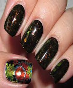 AWESOME NAIL ART WITH BLACK COLORS -2016