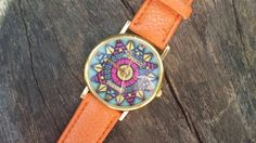 Check out this item in my Etsy shop https://www.etsy.com/listing/231233112/orange-watch-red-aztec-watch-aztec-print