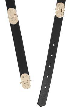 CHLOÉ Hinged leather waist belt