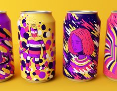 Resonance is the result of something I was willing to do for a long time — I had this wish to design illustrations to get printed in a soda can. The ideia was to put together sensations a fictional drink would cause and translate them to my illustrations.…