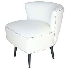 Mid Century Swivel Slipper Chair