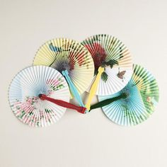 One of my favorite discoveries at WorldMarket.com: Solid Colors Folding Fans, Set of 4