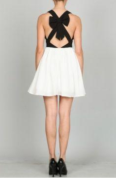 bow back dress #swoonboutique