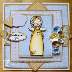handmade card using Angel from Sugar Nellie at www.funkykits.co.uk http://fiscardsandcrafts.blogspot.co.uk