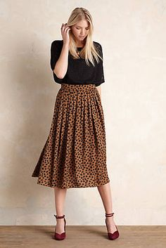 Cannella Pleated Midi Skirt
