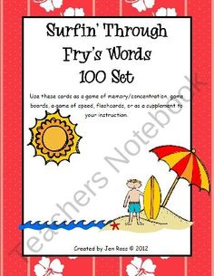 Surfin' Through Fry Words from The Teachers Cauldron on TeachersNotebook.com (36 pages)