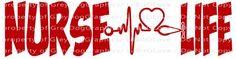 Nurse Life Heartbeat Stethoscope Heart Nursing Vinyl Decal Sticker Nursing for Vehicle Auto Car,Paramedic vinyl Decal, Medic Vinyl Decal, Paramedic Firefighter Decal, Paramedic Life Decal, Saving Life