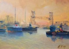 "Saatchi Art Artist Andres Vivo; Painting, ""3912  London bridge"" #art"