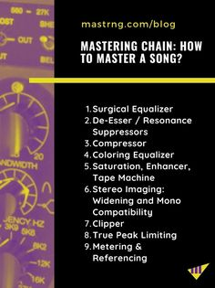 Mastering Chain Plugins: How to Master a Song with VST? Music Sing, Music Beats, Master Music, Audio Mastering, Music Recording Studio, Music Software, Music Writing, Recorder Music, Music Production