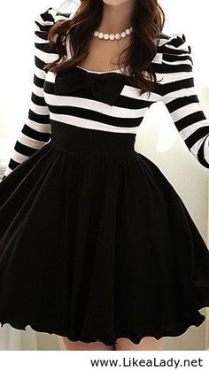 Black and white dress with a #bow
