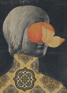 """Saatchi Online Artist: Matthew Rose; Paper, 2006, Assemblage / Collage """"ORANGERIE"""""""
