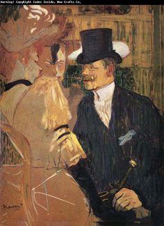 Moulin Rouge Toulouse-Lautrec Paintings | Henri Toulouse-Lautrec L-Auglais au Moulin-Rouge