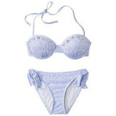 Xhilaration® Junior's 2-Piece Swimsuit -Paisley Print