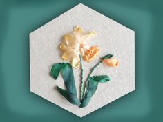 www.craftyattic.com shows you how to embroider this silk ribbon daffodil group. All you need to know is included in the film and you can get all of the mater...