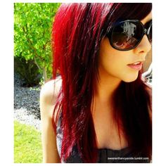 burgundy hair | Tumblr found on Polyvore